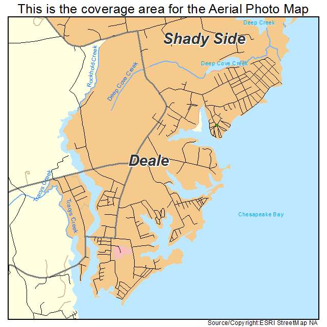 aerial photography map of deale, md maryland Deale Md Map deale, md location map deale md map