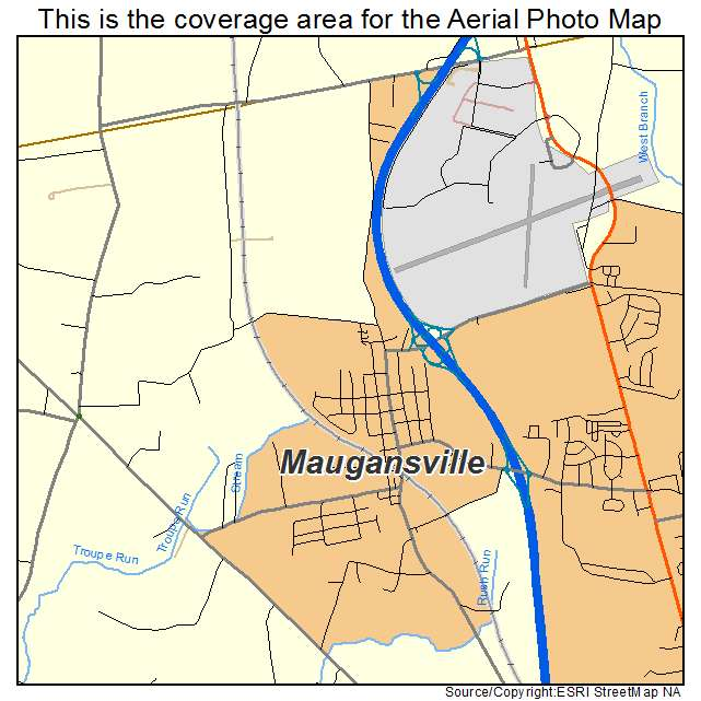 Maugansville, MD location map