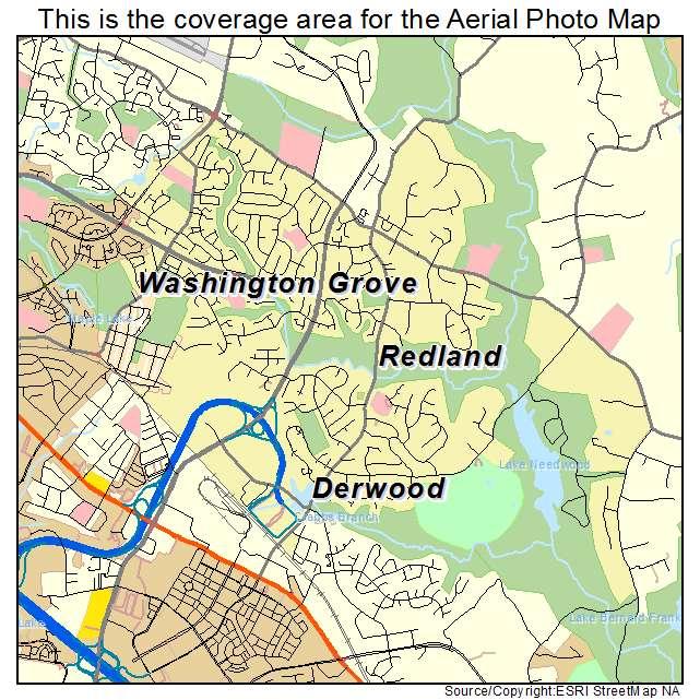 Redland, MD location map