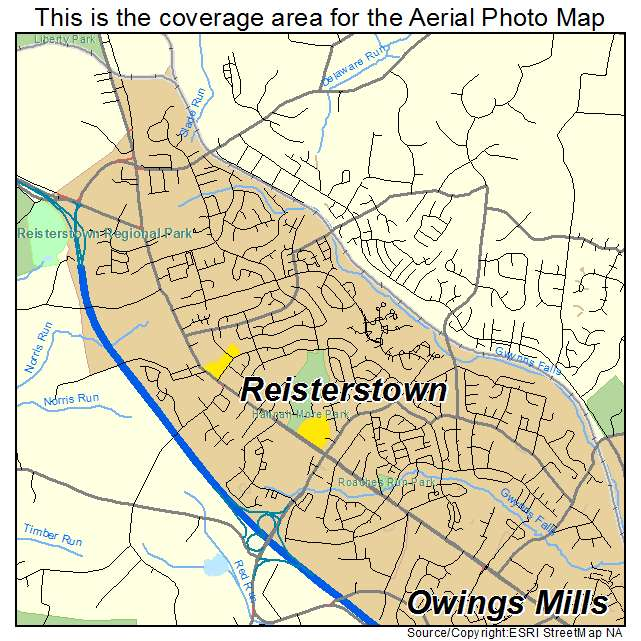 Reisterstown, MD location map