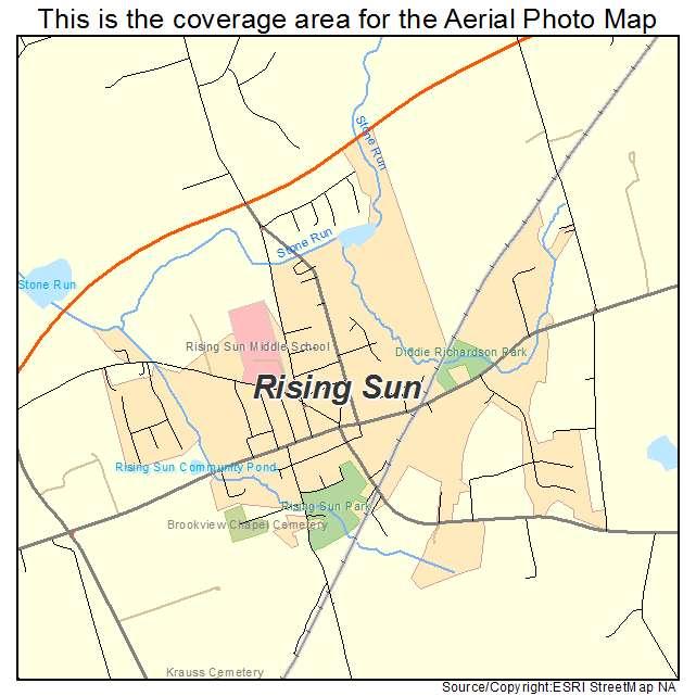 Rising Sun, MD location map