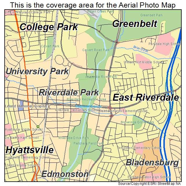 Riverdale Park, MD location map