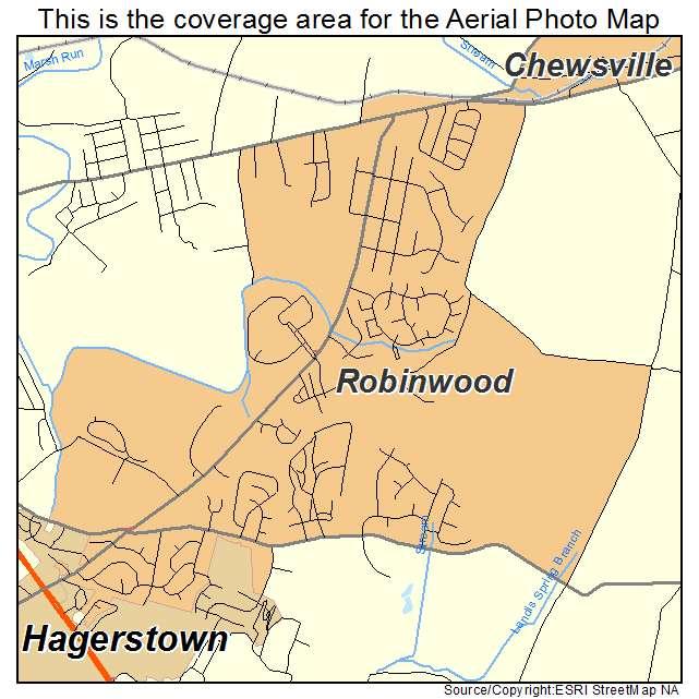 Robinwood, MD location map