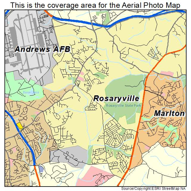 Rosaryville, MD location map