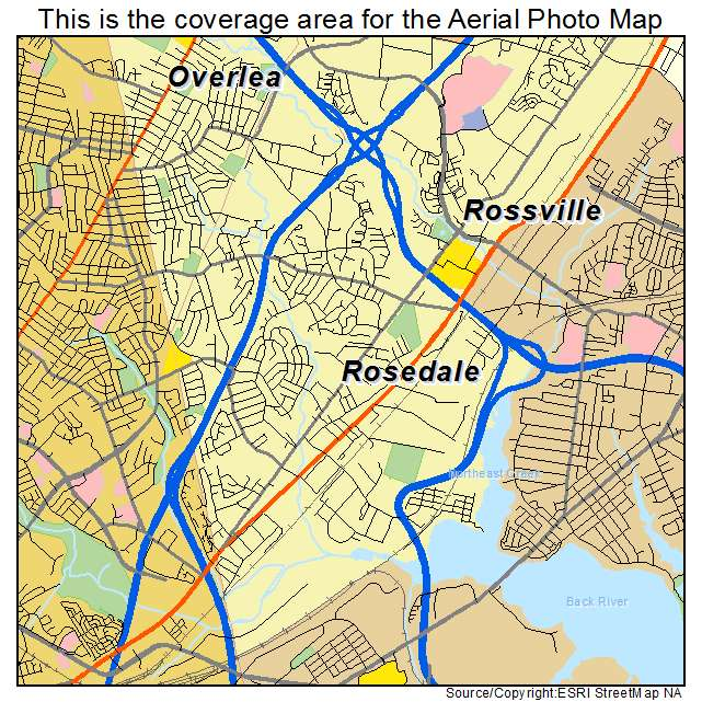 Rosedale, MD location map
