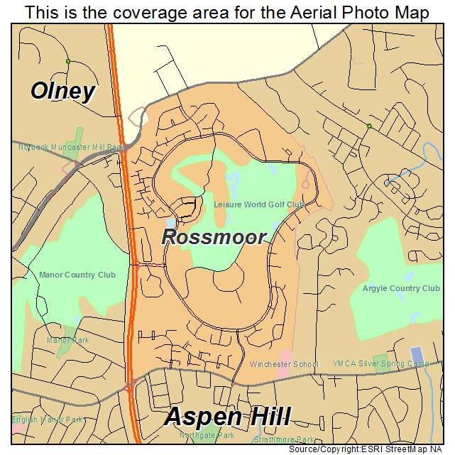 Rossmoor, MD location map