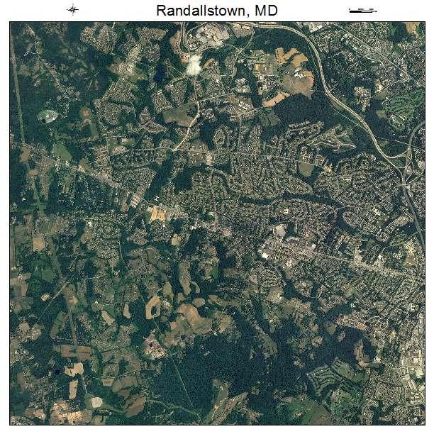 Randallstown, MD air photo map