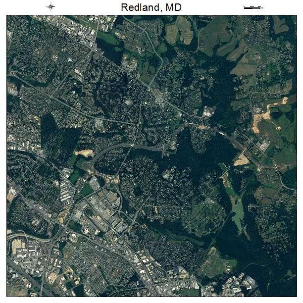 Redland, MD air photo map
