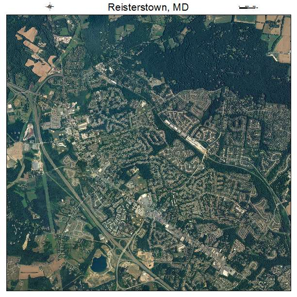 Reisterstown, MD air photo map