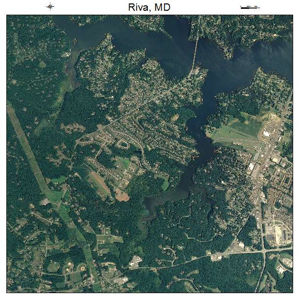 Riva, MD air photo map