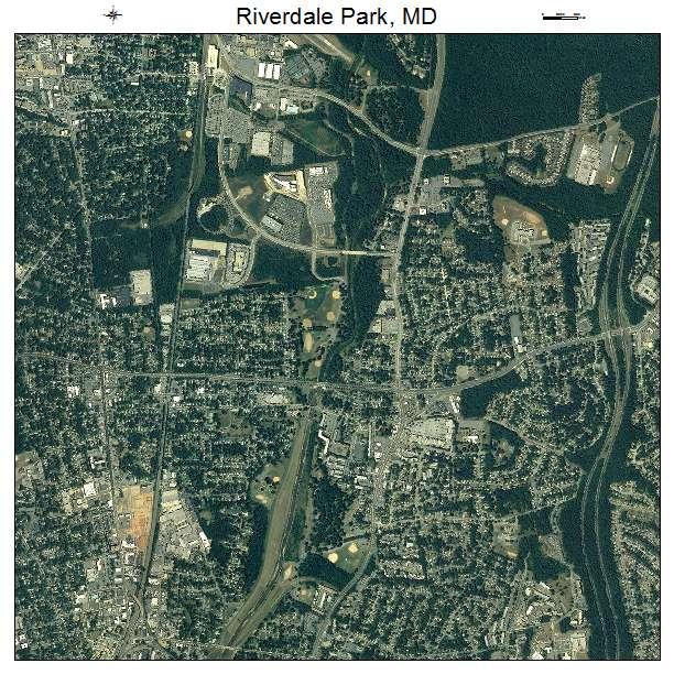 Riverdale Park, MD air photo map