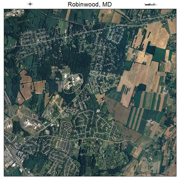 Robinwood, MD air photo map