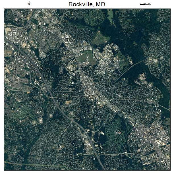 Rockville, MD air photo map