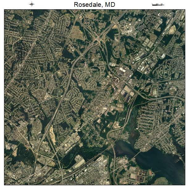 Rosedale, MD air photo map
