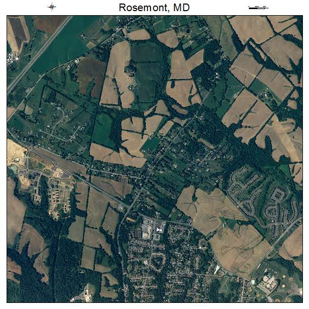 Rosemont, MD air photo map