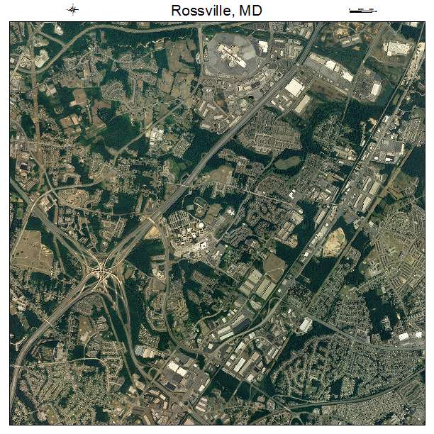 Rossville, MD air photo map