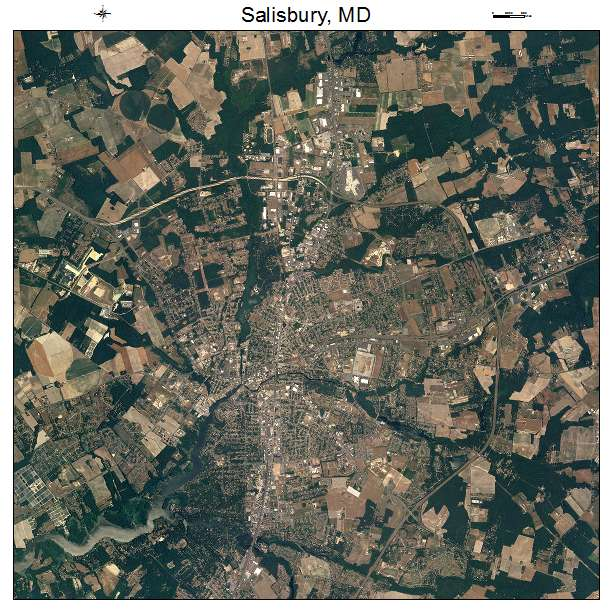 Aerial Photography Map Of Salisbury MD Maryland
