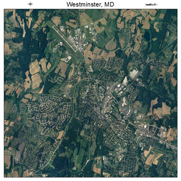 Aerial Photography Map Of Westminster MD Maryland