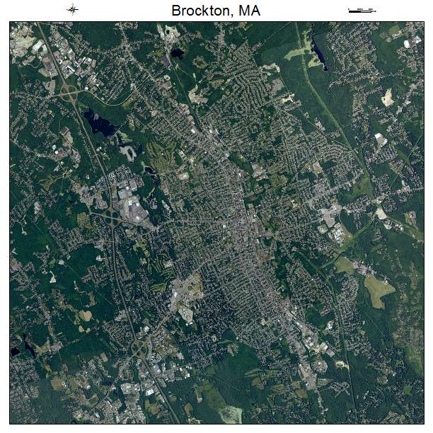 Brockton, MA air photo map