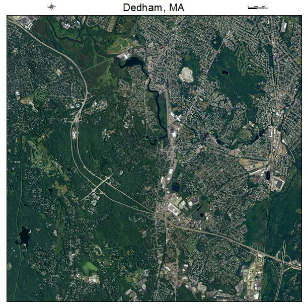 Dedham, MA air photo map