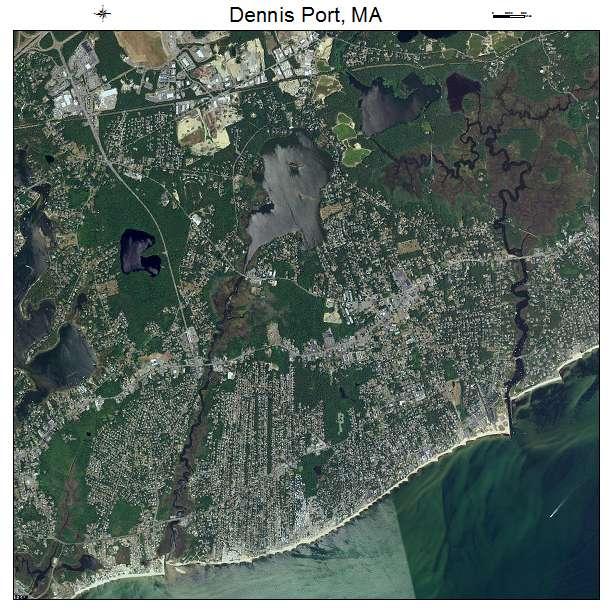 Dennis Port, MA air photo map