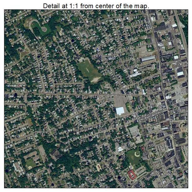 Brockton, Massachusetts aerial imagery detail