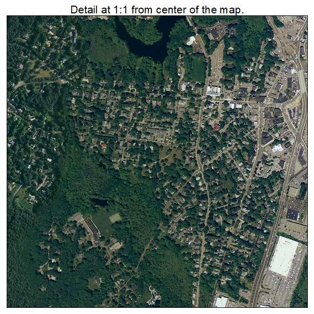 Dedham, Massachusetts aerial imagery detail