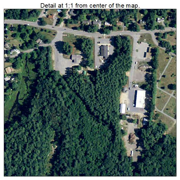 East Pepperell, Massachusetts aerial imagery detail