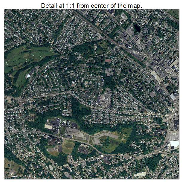 Quincy, Massachusetts aerial imagery detail
