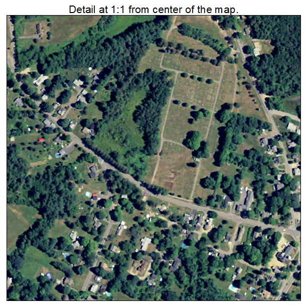 West Brookfield, Massachusetts aerial imagery detail