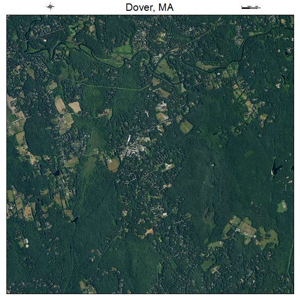 Dover, MA air photo map
