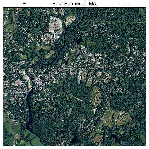 East Pepperell, MA air photo map