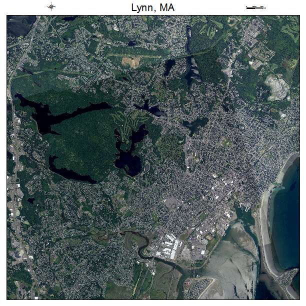Lynn, MA air photo map