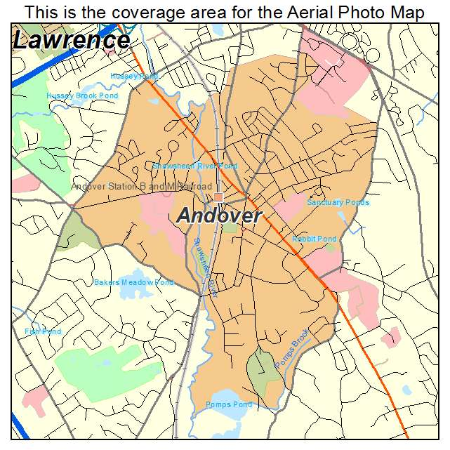 Map Of Andover Aerial Photography Map of Andover, MA Massachusetts