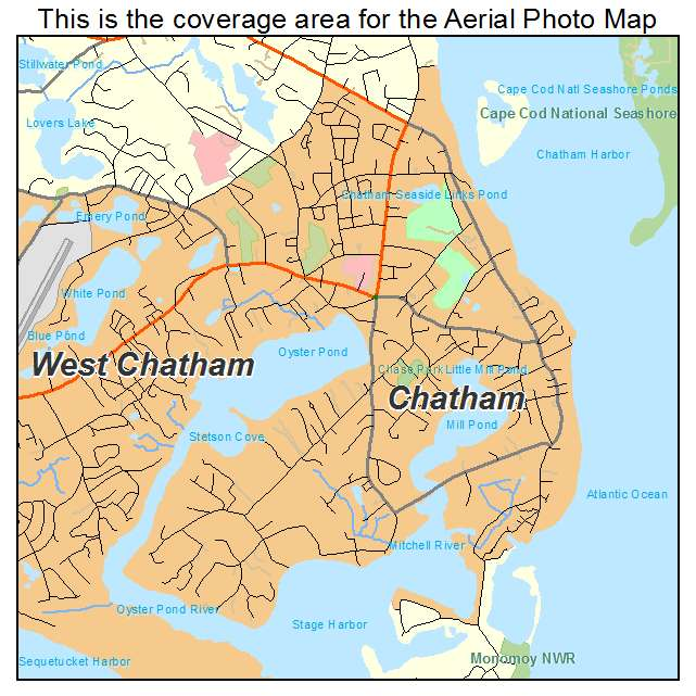 Aerial Photography Map of Chatham, MA Machusetts on
