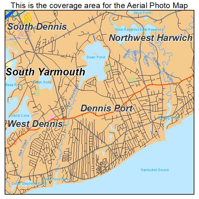Dennis Port, MA location map