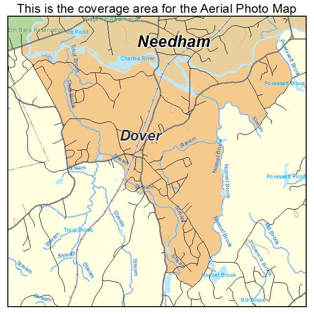 Aerial Photography Map Of Dover MA Massachusetts