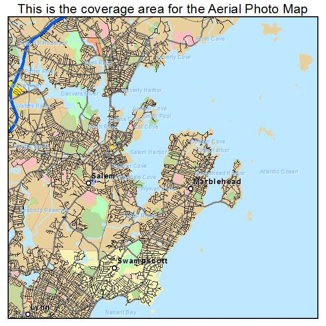 Aerial Photography Map Of Salem MA Massachusetts