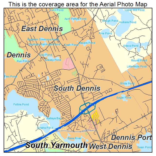 South Dennis, MA location map