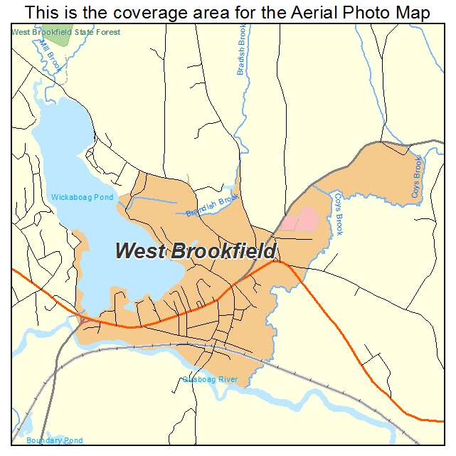 West Brookfield, MA location map