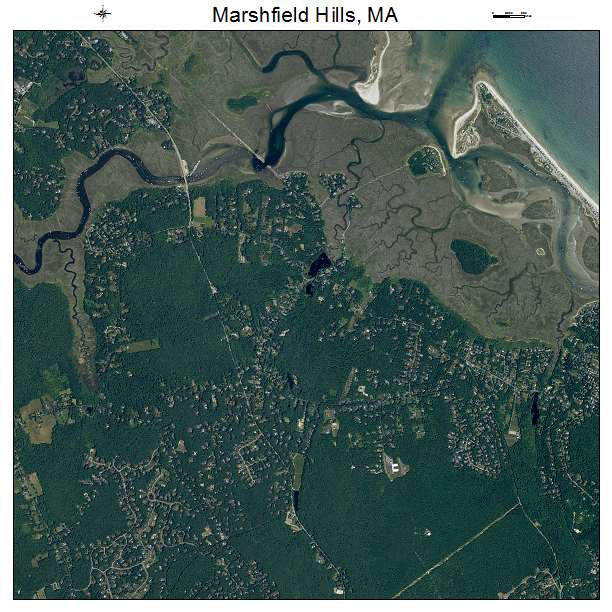 North Hills At Town Center: Aerial Photography Map Of Marshfield Hills, MA Massachusetts