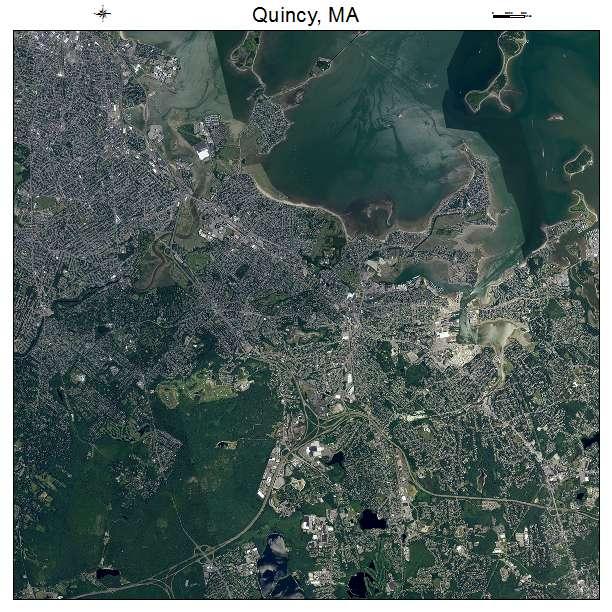 Quincy, MA air photo map
