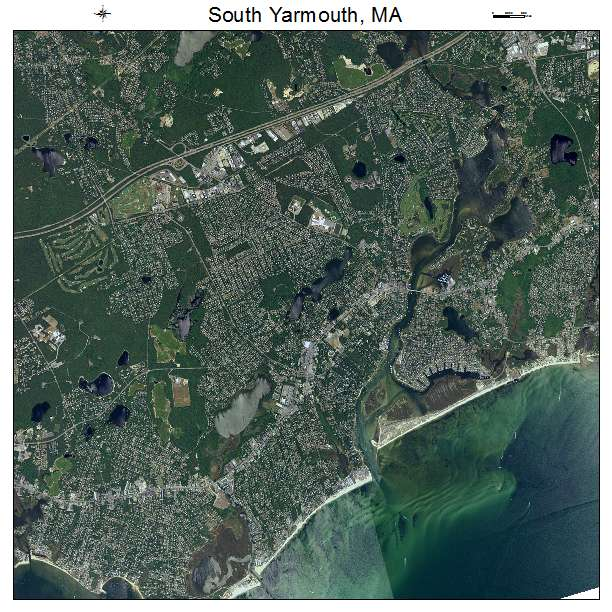 Aerial Photography Map of South Yarmouth MA Massachusetts