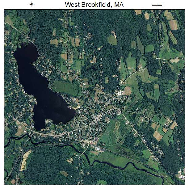 West Brookfield, MA air photo map