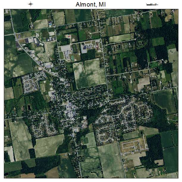 Aerial Photography Map Of Almont Mi Michigan