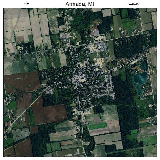 Aerial Photography Map Of Armada Mi Michigan