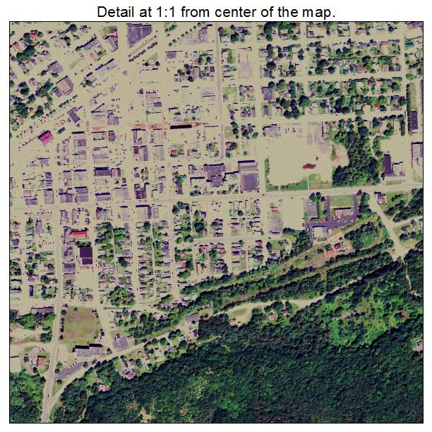 Ishpeming, Michigan aerial imagery detail