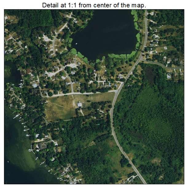 Lake Fenton, Michigan aerial imagery detail