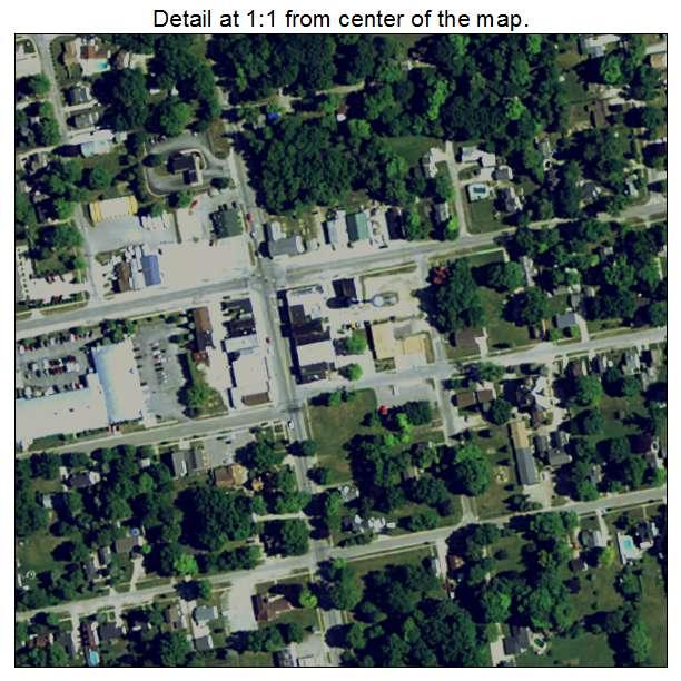 Memphis Michigan Map.Aerial Photography Map Of Memphis Mi Michigan