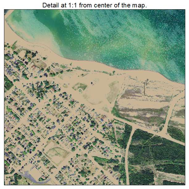 Rogers City, Michigan aerial imagery detail